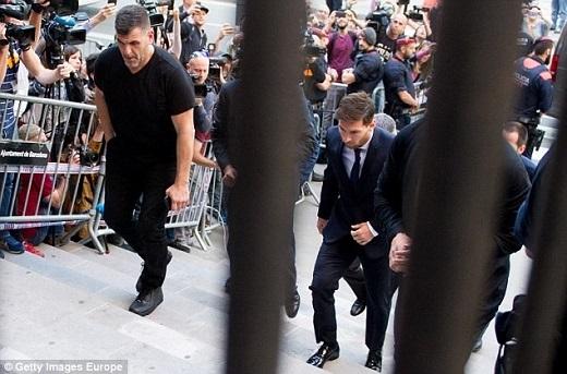 Messi đang dính vào rắc rối liên quan đến trốn thuế.Ảnh: Getty Images.