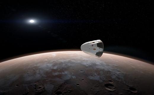 Phác họa sơ lược phi thuyền lên sao Hỏa của công ty SpaceX. (Ảnh: Internet)
