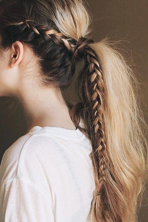 Bằng cách thắt bím, bạn có thể tha hồ sáng tạo vô vànkiểu tóc khác nhau. (Ảnh: Internet)