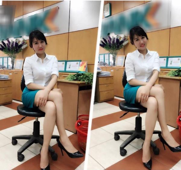 Ở cơ quan, cô gái này là một nhân viên kế toán trong bộ đồng phục đẹp đẽ của ngân hàng...