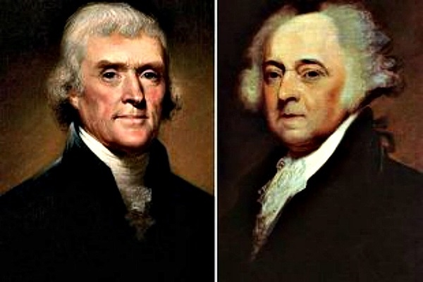 Thomas Jefferson(trái)và John Adams(phải). (Ảnh: Internet)