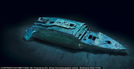 Hình ảnh hoàn thiện của phần mũi tàu.