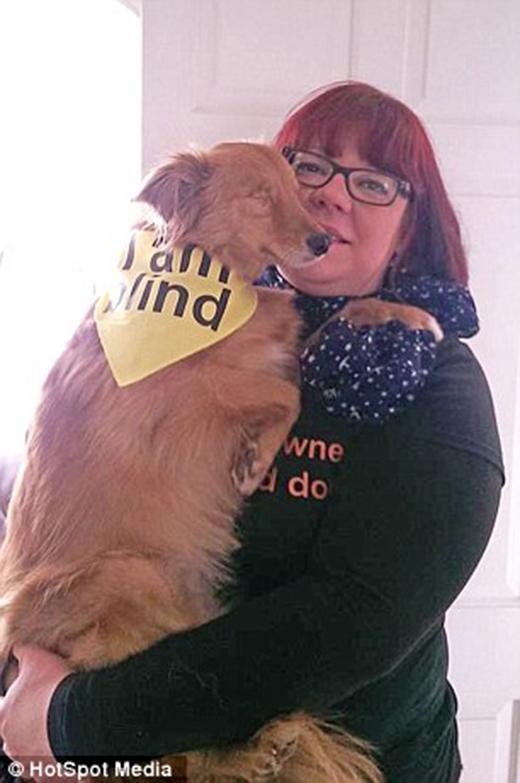 Chú chó mù này đang trở thành hiện tượng của cả thế giới
