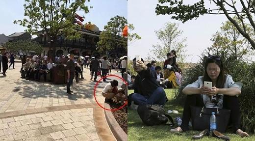Trước khi khai trương, nhiều người đã tụ tập tại công viên và có những hành vi không đẹp chút nào. (Ảnh: Internet)