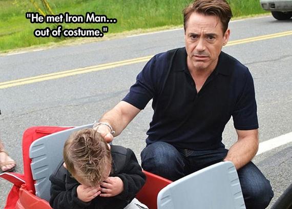 Được gặp thần tượng Iron Man mà ổng không mặc đồ Iron Man nên ổng không phải là Iron Man.