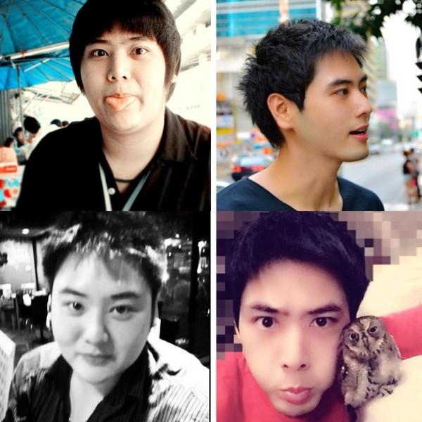 Sự lột xác ngoạn mục của chàng trai người Thái Lan nhờ giảm cân. (Ảnh: Internet)