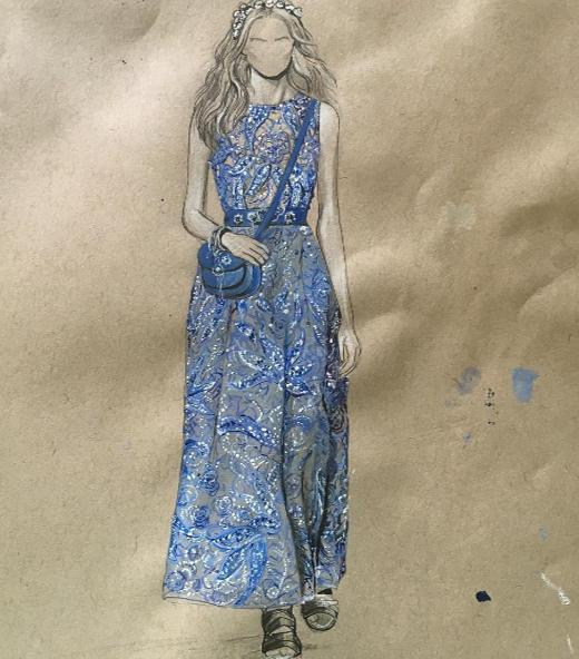 Váy dài là vũ khí của chân dài. Những chiếc váy maxi dài, dáng suông với nền hoa văn độc đáo chính là lựa chọn hàng đầu cho những cô nàng có lợi thế về chiều cao, những đường nét thiết kế và hiệu ứng đơn giản chính làsự kết hợp vô cùnghoàn hảo. (Ảnh: MXH)