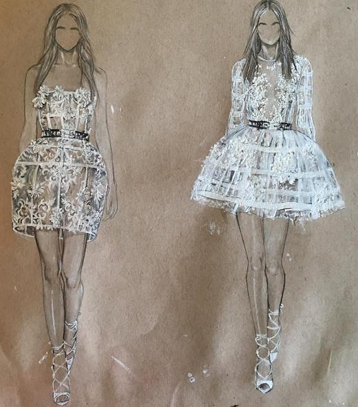 Đầm công chúa không dây, xuyên thấu kết hợp cùng hoạ tiết hoa cương tạo một vẻ trong sáng, nữ tính đồng thời cũng gợi cảm một cách hợp lí, một lựa chọn an toàn cho những cô nàng yêu vẻ ngọt ngào thuàn tuý nhưng đậm chất hiện đại.Thêm một lựa chọn cho phong cách này là dạng đầm kín cổ và tay, váyxoè trên nền vải voan trắng, không quá cầu kì nhưngtạo một vẻ thanh khiết nhẹ nhàng (Ảnh: MXH)