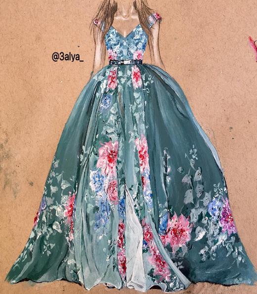 Đầm công chúa rất thân quen với những ai yêu thích sự tươi trẻ tân thời. Hoa văn dạng lớn trải trên nền váy, không rối mắt mà vẫn đậm chất nghệ thuật. Phần thân ôm sát kết hợp cùng bâu áo cổ tim, bồng bềnh nhưng cũng không kém phần duyên dáng. (Ảnh: MXH)