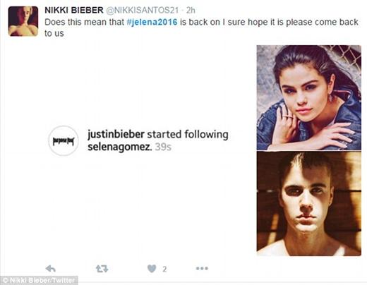 Thậm chí còn có fan hi vọng Justinsẽ trở lại với Selena. (Ảnh: Internet)