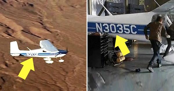 Chiếc máy bay mà John và Kate bay tự thay đổisố hiệu từN3035C sang số hiệu N3973F khi hạ cánh. (Ảnh: Internet)
