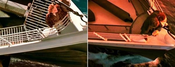 Do sơ xuất trong quá trình hậu kỳ, con tàu titanic đã có 2 phiên bản khác nhau.(Ảnh: Internet)