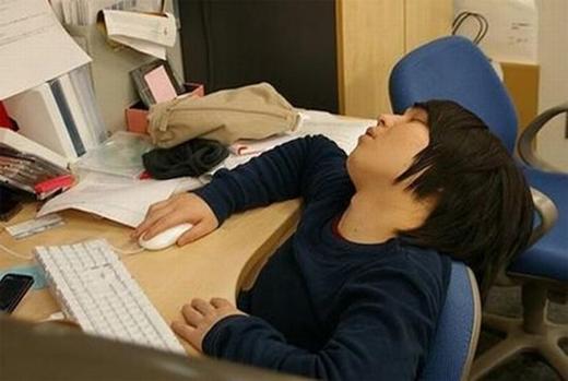 Ngủ rồi vẫnkhông quên nhiệm vụ. (Ảnh: Internet)