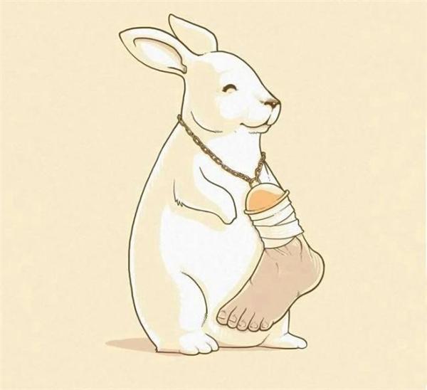 Thỏ con tung tẩy phóng ra bãi cỏ trước nhà, trên cổ nó lủng lẳng sợi dây chuyền với một bàn chân người to tướng gắn trên đó. Chiến lợi phẩm đầu tiên trong đời nó.