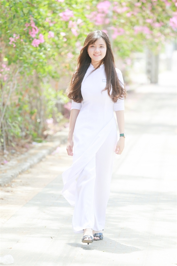 Nữ sinh với phong thái tự tin đến từ thành phố biển Vũng Tàu.