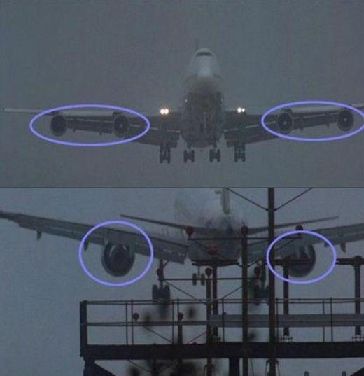 Chiếc máy bay cảnh trước có 2 quạt phản lực, đến cảnh sau lại chỉ còn một, thật thần kỳ.