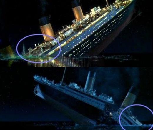Khi con tàu huyền thoại dần chìm xuống đại dương, rất nhiều chi tiết của nó cũng nhân tiện biến mất.