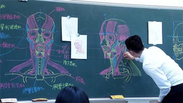 """""""Bấn loạn"""" trước thầy giáo vẽ khung xương người """"siêu cấp vô địch thủ"""""""
