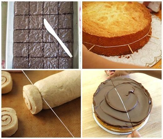 Nếu muốn miếng bánh được hoàn hảo thìtham khảo mẹo cắt bánh này nhé. (Ảnh: Internet)