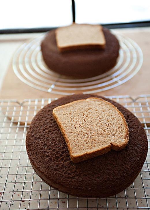 Gặp rắc rối khi bánh mì quá khô? Hãy để lát bánh mì lên trên một mẩu bánh để nó luôn ẩm và mềm khi ăn. (Ảnh: Internet)
