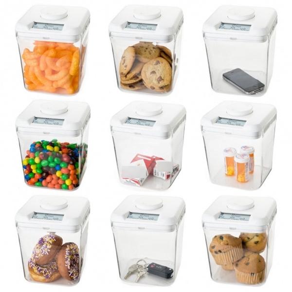 Chiếc hộp đựng đồ thông minh chỉ mở nắp khi đúng giờ đã hẹn thực sự là phương pháp ăn kiêng hữu hiệu cho các bạn gái. (Ảnh: Internet)
