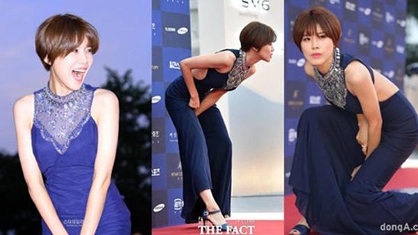 Người đẹp Jang Do Yeon bị chê vì lối tạo dáng kém trang nhã trên thảm đỏ Baeksang hôm 3/6.
