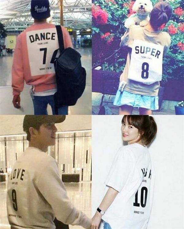 Không biết vô tình hay cố ý mà Song Joong Ki lại diện đúng chiếc áo từng bị các fan cho là áo đôi với đàn chị xinh đẹp