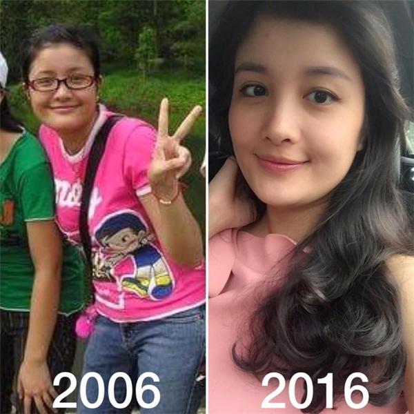 """Sau 10 năm, gương mặt vẫn còn y nguyên các đường nét nhưng đã bớt """"tròn trịa"""" và xinh đẹp hơn xưa. (Ảnh: Phùng Thu Huyền)"""