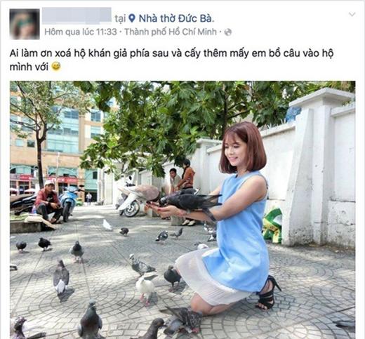 Tấm hình cô gái đăng lên mong được chỉnh sửa hộ