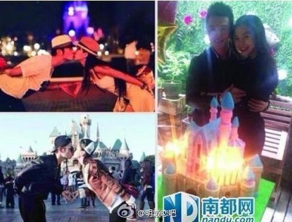 Đây không phải là lần đầu tiên Huỳnh Hiểu Minh và Angelababy dạo chơi Disneyland. Trước đó, hai ngôi sao nổi tiếng từng nhiều lần đến đây chơi và lưu lại ảnh hôn nhau làm kỉ niệm.