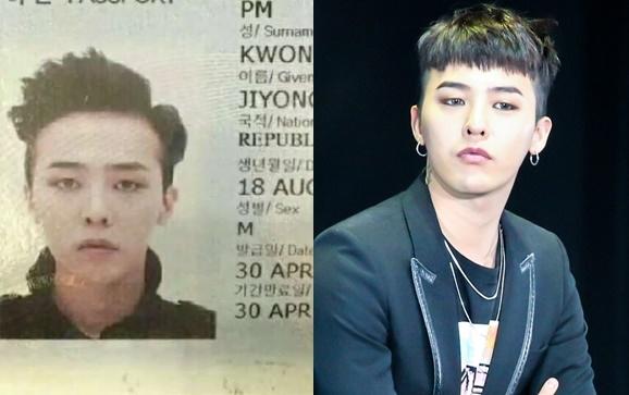 Hình thẻ của G-Dragon cũng ngầu không kém ngoài đời. Vẫn là mái tóc dựng hợp thời cùng gương mặt cá tính vô cùng quyến rũ.