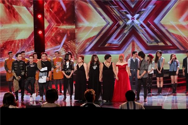 Ở phần công bố kết quả, top 5 thí sinh có được sự bình chọn cao nhất là: Hồ Hiền, Phương Nga, Nhật Tân, nhóm BBQ và nhóm F.O.E.