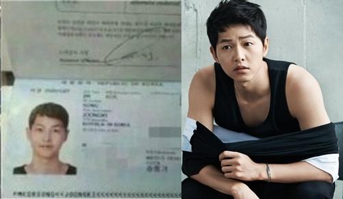 """Mới đây, hình hộ chiếu của Song Joong Ki bị lộ và được cư dân mạng chuyền tay nhau với tốc độ chóng mặt. Anh trông không khác gì ảnh thẻ của """"đại úy Yoo"""" trong Descendants of the Sun."""