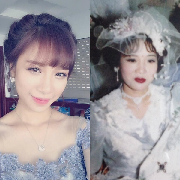 Cô nàng Phương Dung cho hay, mẹ cưới bố năm 20 tuổi, còn cô nàng thì 22 tuổi kết hôn.