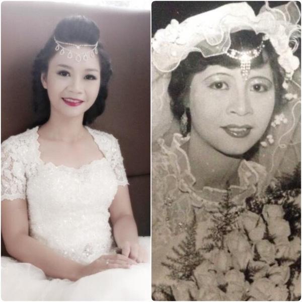 Thu Trang được nhận xét là sao y bản chính của mẹ.