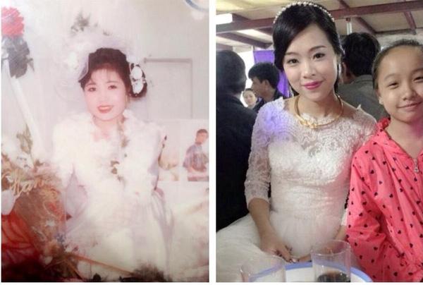 """""""Hai mẹ con mình đây, mẹ mình chụp không được ăn ảnh lắm"""", cô nàng Nhung Nguyễn nói về mẹ với giọng đầy tự hào và lòng biết ơn."""
