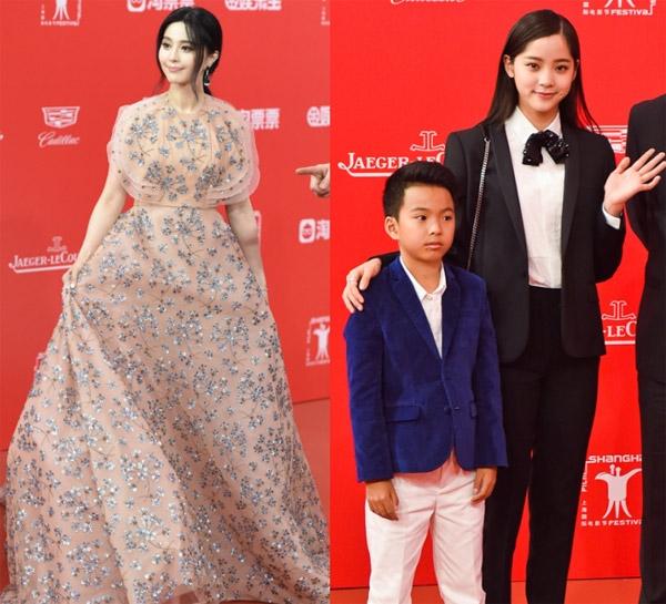 Phạm Băng Băng có mặt trong 3 dự án phim nhưng không đổi trang phục. Âu Dương Na Na (phải) được đánh giá mặc đẹp nhất nhờ phong cách khác lạ với dàn sao còn lại.