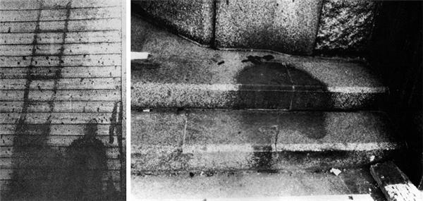 """Bức ảnh này có tên gọi """"Bóng ma ở Hiroshima"""" (""""Hiroshima shadows""""). Sau vụ đánh bom nguyên tử tại Hirosima trong Chiến tranh Thế giới thứ Hai, người ta tìm thấy những bóng đen này. Và sở dĩ chúng có hình cơ thể người là vì họ đã chết tan xác ngay tại chỗ...(Ảnh: Internet)"""