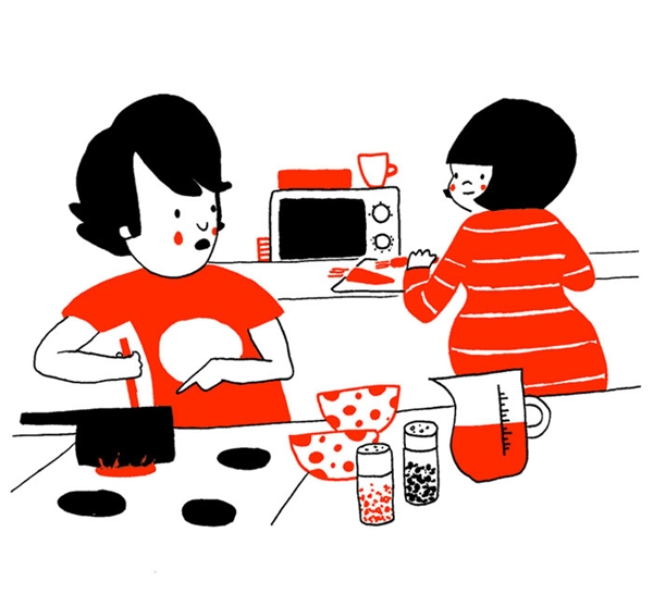 Chẳng hạn, cùng nhau chuẩn bị bữa trưa
