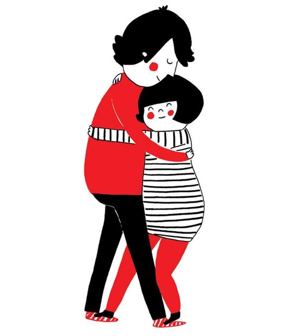 Đôi khi hạnh phúc chỉ là một cái ôm