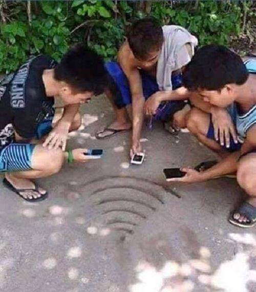 Khi wifi trở thành những luồng sóng hiện hình. (Ảnh: Internet)