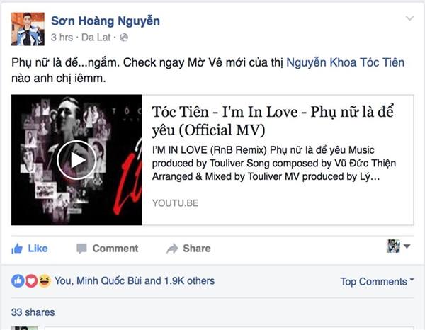 """Không chỉ chia sẻ, người mẫu Dương Mạc Anh Quân và ca sĩ trẻ Soobin Hoàng Sơn còn """"sáng tạo"""" thêm hashtag mới cho riêng mình là #phụnữlàđểtôntrọng, #phụnữlàđểngắm. - Tin sao Viet - Tin tuc sao Viet - Scandal sao Viet - Tin tuc cua Sao - Tin cua Sao"""