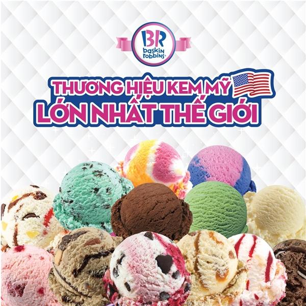Thưởng thức kem nhập khẩu từ Mỹ trong mỗi chiếc bánh kem lạnh.