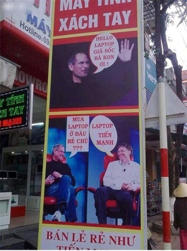 Thánh chế ảnh đã biến Steve Job thành anh bán dạo.(Ảnh: Internet)