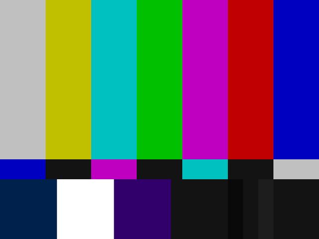 Các dải màu SMPTE theo chuẩn NTSC