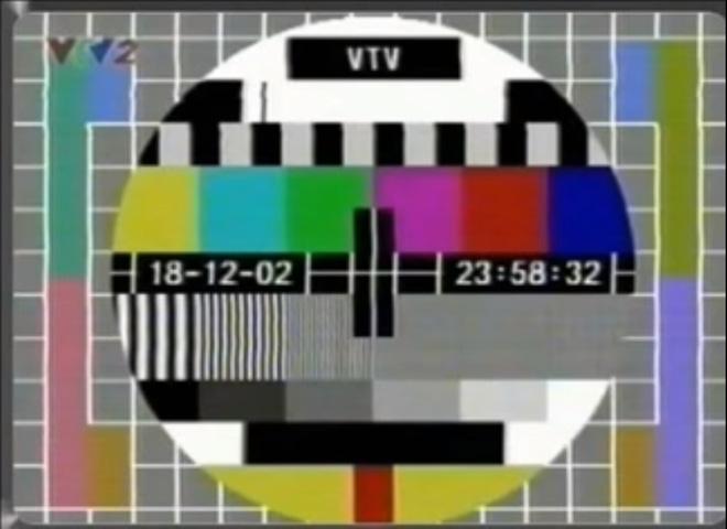 Test card của đài VTV vào năm 2002