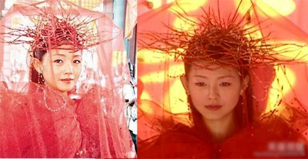 Tạo hình của diễn viên trong phim Thiện nữ ưu hồn nhận khá nhiều chỉ trích, đặc biệt là nhân vật của Từ Hy Viên với mái tóc cực kỳ khó đỡ. (Ảnh: Internet)