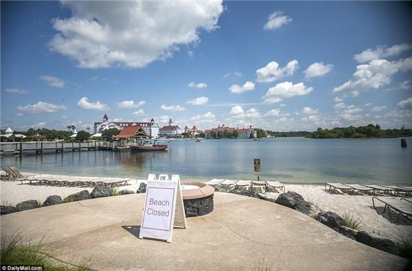 Sau sự việc thương tâm, khu nghỉ dưỡng Disney đã cho đóng cửa các bãi biển trong khuôn viên để tránh trường hợp tương tự xảy ra. (Ảnh Dailymail)