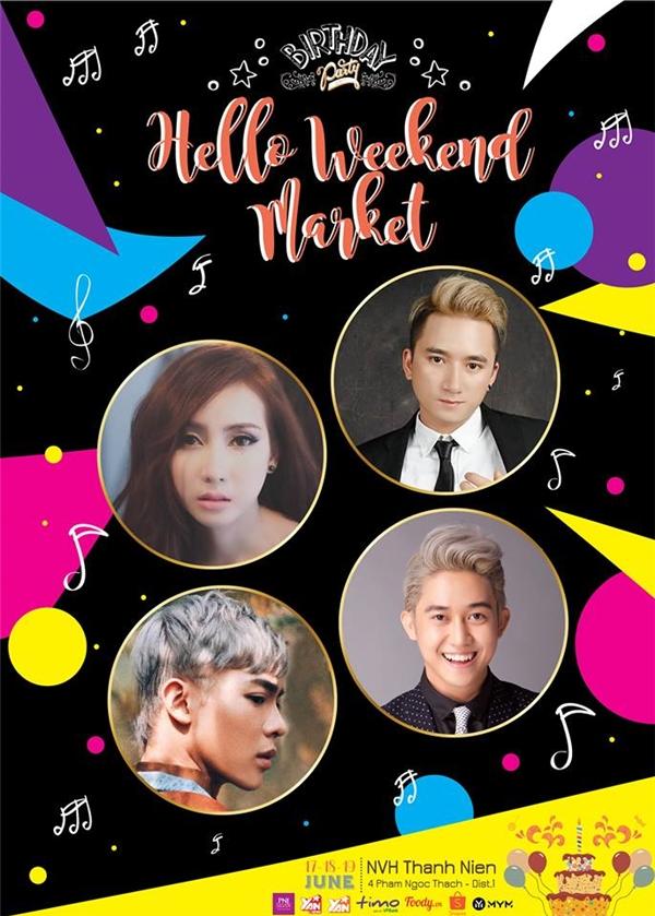 Eric, Phan Mạnh Quỳnh đại náo tiệc sinh nhật Hello Weekend Market