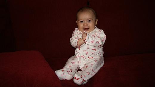 Julianna lúc 3 tháng tuổi. (Ảnh: Internet)